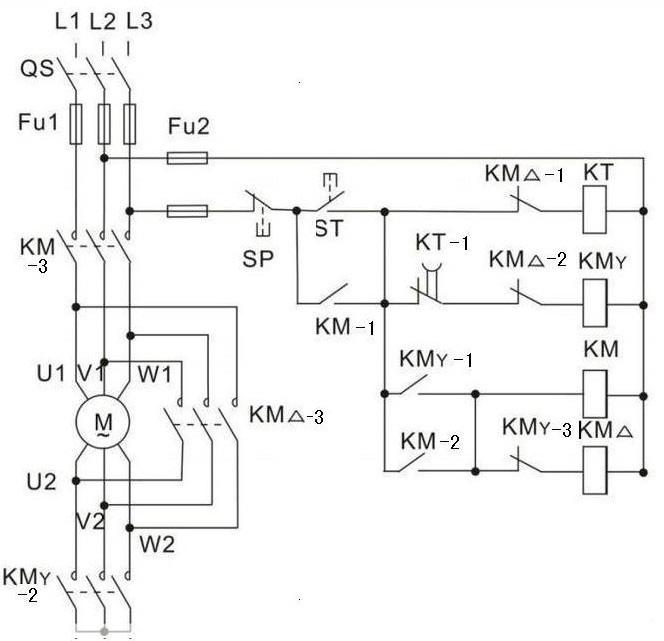 当电机启动成功后,再将电机改成三角形接线