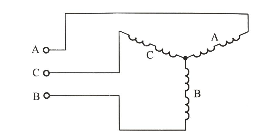 三相电机每根电源线只与一个绕组相连接