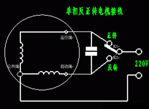 单相电机正反转接线图与原理