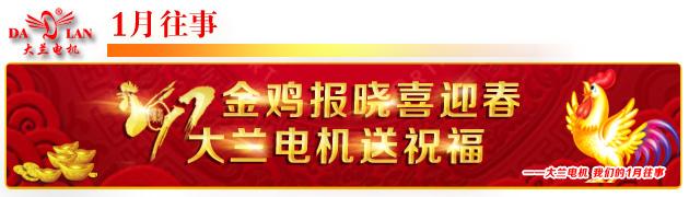 【1月往事】2017金鸡报晓 大兰电机送祝福